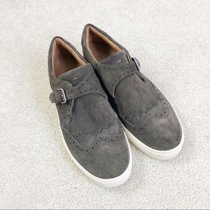 Frye Gemma Kiltie Wingtip Slip on Shoes
